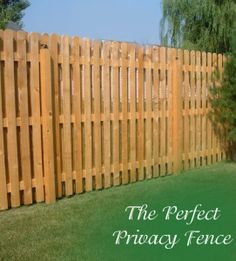 The Perfect Privacy Fence - ideas for semi-private fences.  A small section of this fence is just what we needed.  Looks great.