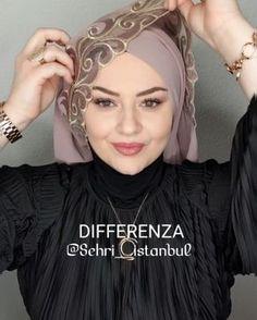 Hijab Dress Party, Hijab Style Dress, Hijab Chic, Turkish Hijab Tutorial, Hijab Style Tutorial, Turban Hijab, Hijab Simple, Wedding Hijab Styles, Istanbul