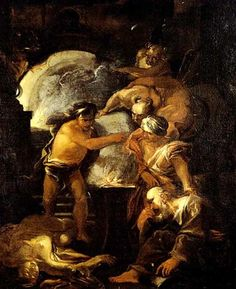Workshop of Salvator Rosa (Italian, 1615–1673) Title:     La fucina di Vulcano  Medium:     oil on canvas Size:     79 x 62 cm. (31.1 x 24.4 in.)