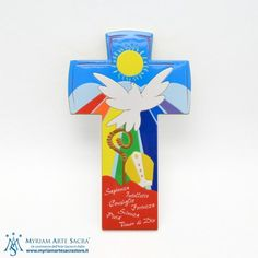 Croce Cresima Corpus Christi, Holy Spirit, Polymer Clay, Religion, Logos, Gifts, Easter, Craft, Ideas