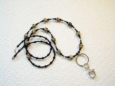 Lanyard, Lanyard key holder, Lanyard ID badge holder, Beaded gemstone Lanyard…