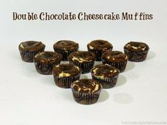 Bobbi's Kozy Kitchen: Double Chocolate Cheesecake Muffins