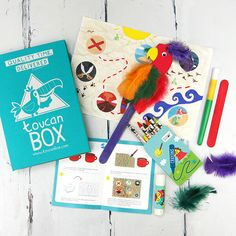 Free Themed art and craft activities delivered to your door personalized with your child's name. For ages 3 - 8. Create & play the toucanBox way and let your child's imagination out of the box!