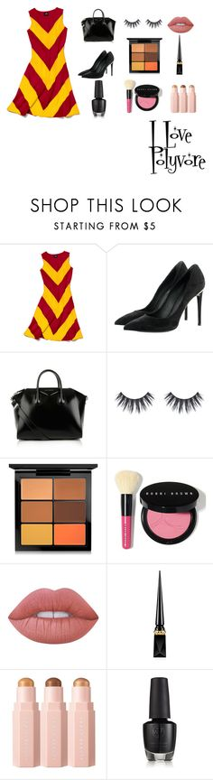 """""""harry potter"""" by hellismyenime on Polyvore featuring Slater Zorn, Louis Vuitton, Givenchy, MAC Cosmetics, Bobbi Brown Cosmetics, Lime Crime and Christian Louboutin"""
