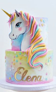 Your little girl's birthday is coming up. You have purchased all the unicorn party decorations balloons, tableware, party bags. You even have the cake table decor all set and ready to go. Feel free to shop our unicorn party supplies collection. Birthday Cake Girls, Unicorn Birthday Parties, Unicorn Party, Unicorn Rainbow Cake, Rainbow Birthday Cakes, Unicorn Head Cake, Fat Unicorn, Unicorn Wedding, Birthday Kids