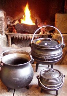 Kitchen Witchery: To bless and charge a #cauldron with the spirit and powers of the Goddess; fill with water from a natural source (if possible), and place where it can reflect the image of the Full Moon. If your cauldron is of cast iron, make sure to dry well after each use, and coat lightly with olive oil to keep in good shape. #Kitchen #Witch. by joy