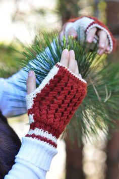 Шерсть бело-коричневый Fingerless варежки, перчатки без пальцев, рук вязать свитер Лучший Варежки перчатки для женщин, Хобо перчатки, Рождественский подарок