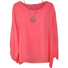 Nora Baggy Batwing Sleeve Necklace Top