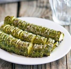 The Iron You: Hasselback Zucchini with Garlic Thyme Butter and Parmesan