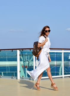 How to style a long dress  What to Pack For a Mediterranean Cruise Sydne Style – Sydne Style
