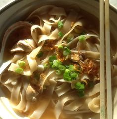 Chicken Rice Noodles in soup.