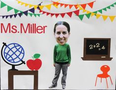 Pin the head on teacher and other end of school year Party Games
