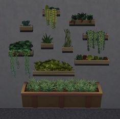 Walling in the Garden Plants - Brazen Lotus Plant Wall, Plant Decor, Mod Wall, Sims 4 Body Mods, Outside Plants, Sims 4 Gameplay, Play Sims, Sims 4 Toddler, Sims 4 Cc Furniture