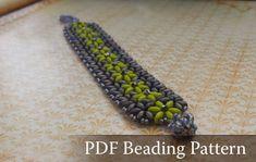 FREE Beading tutorial Flower-in-flower bracelet by Diana Balogh