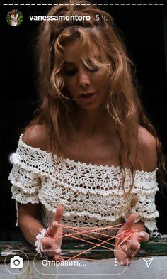Vanessa Montoro, Crochet Clothes, Crochet Top, Women Wear, Women's Fashion, Knitting, How To Wear, Crafts, Style