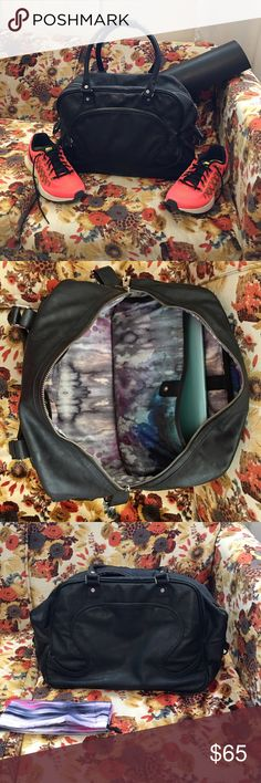 Lululemon black gym bag Large Lululemon black gym bag. Used mainly for traveling. Lots of space with compartment for computer and matching bag to store sweaty clothes in after your workout. Slight wear on two of the bottom corners. Dimensions: 16 in long, 8 inches wide, 11 inches tall. lululemon athletica Bags Shoulder Bags