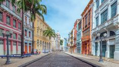 Rua do Bom Jesus, former Rua dos Judeus, is one of the most important and beautiful streets of Recife, Pernambuco, Brazil. Beautiful Roads, Beautiful Streets, Beautiful Places To Travel, Amazing Places, Beautiful Landscapes, Francisco Brennand, Brazil Travel, City Architecture, Ancient Architecture