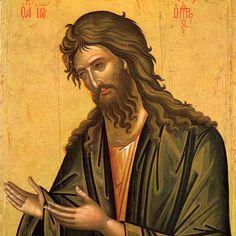 Icon of St. John the Baptist (from Deisis) - c. Byzantine Icons, Byzantine Art, Orthodox Christianity, John The Baptist, Art Icon, The Kingdom Of God, Orthodox Icons, Christian Art, Jesus Christ