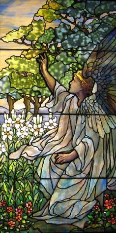 Louis Comfort Tiffany Stained Glass Windows at the Smith Museum of Stained Glass Stained Glass Church, Stained Glass Angel, Making Stained Glass, Tiffany Stained Glass, Tiffany Glass, Stained Glass Windows, Art Nouveau, Leaded Glass, Mosaic Glass