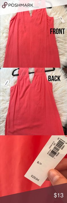 ✨Brand new summer coral shift dress from old navy✨ BNWT perfect little summer dress!! Dresses