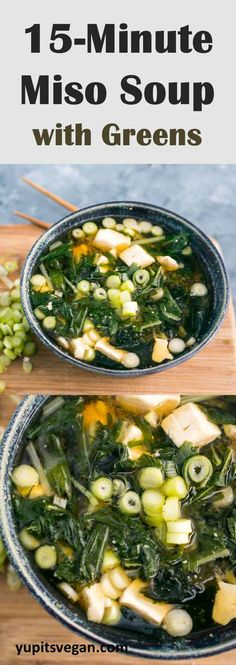How to make easy vegan miso soup that comes together in just a few minutes. Healthy, nourishing, full of nutrition. Naturally vegetarian, gluten-free and made with homemade kombu broth.