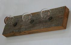 barn wood vanity light