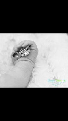 Newborn wedding rings photo