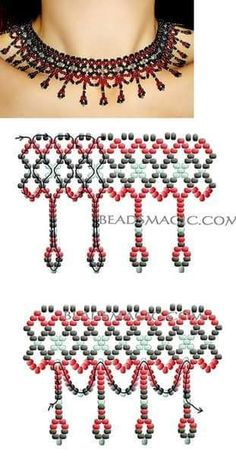 seed bead bracelet patterns for beginners Diy Necklace Patterns, Seed Bead Patterns, Beaded Bracelet Patterns, Beading Patterns, Necklace Designs, Seed Bead Necklace, Seed Bead Bracelets, Beaded Necklaces, Beaded Anklets