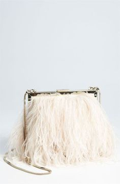 kate spade new york 'belle elliana' feather clutch @Nordstrom #WeddingSuite