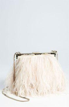 Kate spade new york 'belle elliana' feather clutch @Nordstrom #WeddingSuite