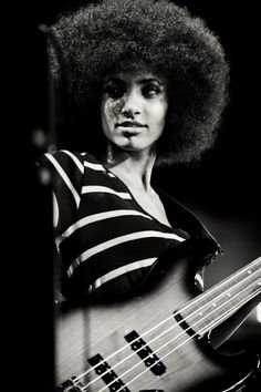 """""""What I really want to do is reach people. I want to make great music, but I also want to use that talent to lift people up, and maybe show them some degree of hope where there might not be any in their lives. My name means 'hope' in Spanish, and it's a name I want to live up to."""" - Esperanza Spalding"""