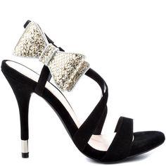 Isaac B heels Blk Silver Sparkle brand heels BCBGeneration |2013 Fashion High Heels|