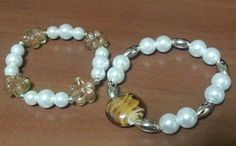 Pearl with murano glass beads