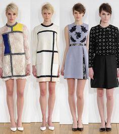 huishan zhang mondrian - Google Search Mondrian Dress, Antonio Berardi, Fashion Outfits, Fashion Ideas, Color Blocking, Peplum Dress, Formal Dresses, Ysl, Clothes