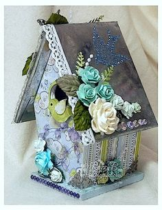 altered birdhouses | ALTERED BIRD HOUSE | Papercraft