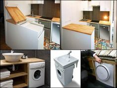 Creative washer storage