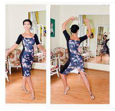 Jersey Tango Dress (Custom) Tango dancewear [AB-TW-5] - $135.00 : Latin dance wear, ballroom dance shoes, latin dance skirts & Salsa dresses.