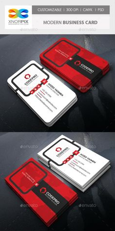 Modern Business Card – GraphicRiver Source by rulographics