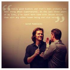 I love how Jared Padalecki and Jensen Ackles are such good friends