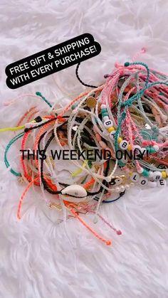 Diy Crafts To Do, Diy Crafts Jewelry, Bracelet Crafts, Cute Jewelry, Jewlery, Pura Vida Bracelets, Cute Bracelets, Friend Bracelets, Bff Gifts