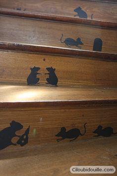 éscalier rempli de souris - DIY - Tutoriel