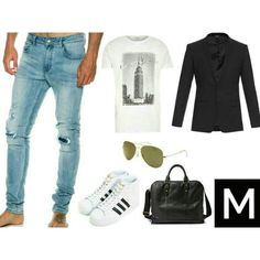 Inspiration by MENSWR http://www.menswr.com/outfit/108/  #beautiful #followme #fashion #class #men #accessories #mensclothing #clothing #style #menswr #quality #gentleman #menwithstyle #mens #mensfashion #luxury #mensstyle #blazer #jeans #sunglasses #sneakers #bag #tee