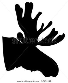 moose silhouette | Silhouette Of Moose Stock Vector 32451142 : Shutterstock