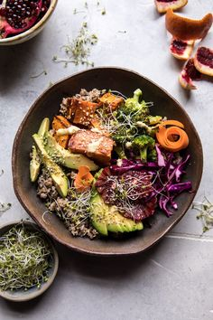 Vibrant Spring Broccoli Buddha Bowl: full of all the good for us veggies, grains, proteins, and healthy fats our bodies need to keep us going through busy days. @halfbakedharvest.com