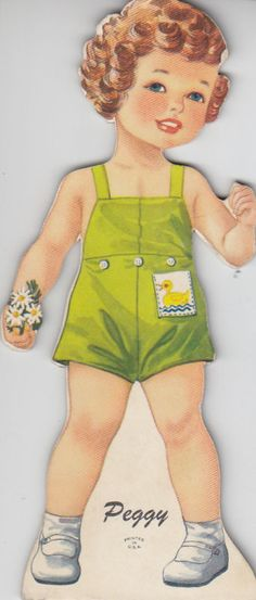 Peggy 1930's.  I had this paper doll.  There was an entire family, and they all had red hair.