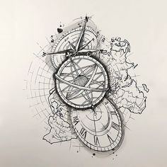 A great unique tattoo design with map, clock and compass that symbolizes love for travelling. You Must Have 10 from Travel…Tatto Ideas 2017 – geometric world map Creative Arm Tattoo Designs For Men That All… Trendy Tattoos, Unique Tattoos, Body Art Tattoos, Sleeve Tattoos, Tattoo Art, Wallpaper Travel, Compass Tattoo Design, Hand Tattoo, Tattoo Trend