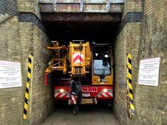 #Liebherr - LTC 1045-3.1 passing narrow tunnel in London  #Crane #Fleet #Mainpac