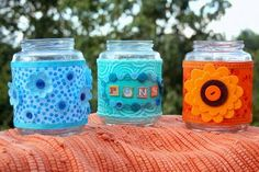 For upcoming Earth Day - recycled jars craft