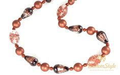 """╰☆╮Black Copper Bronze Clear Statement Necklace Czech Glass Lampwork Beaded Statement Necklace 20.47"""" 52cm by BohemStyle http://bohemstyle.com/product/black-copper-bronze-clear-necklace-czech-glass-lampwork-beaded-necklace-20-47-52cm-by-bohemstyle/?utm_source=PN&utm_medium=bohemstyle&utm_campaign=SNAP #BohemStyle #boho #bohostyle #bohemianjewelry #bohojewelry #jewelry #jewelry #handmade"""