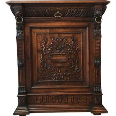 ~ French Antique Carved Vestry/ Cabinet/ Console/ Buffet ~ rubylane.com